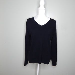 everlane women black cashmere sweater SZ S
